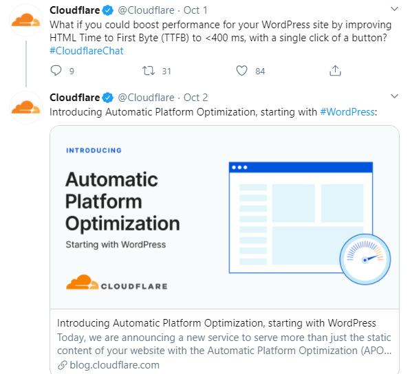 Cloudfare Automatic Platform Optimization