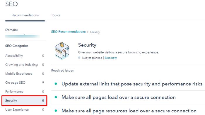 hubspot website security