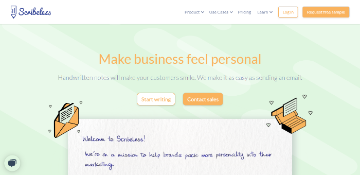 Scribeless-Delight-Customers-with-Handwritten-Notes