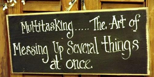 multitasking singletasking
